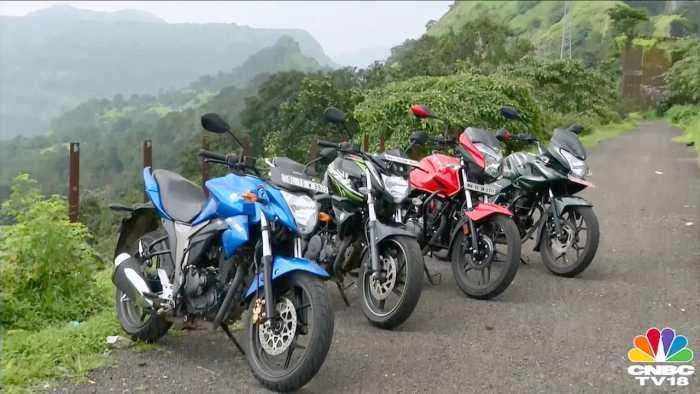 Suzuki Gixxer vs Bajaj Discover 150F vs Yamaha FZ-S v2.0 vs Hero Xtreme.mp4_snapshot