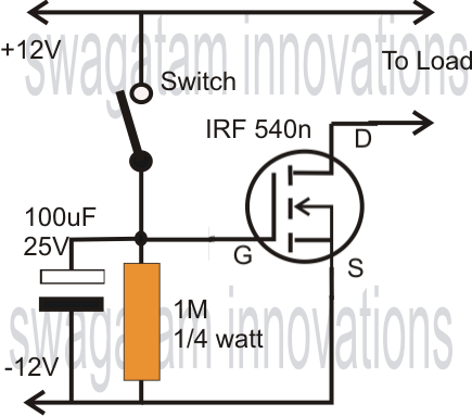 mosfet as delay timer circuit
