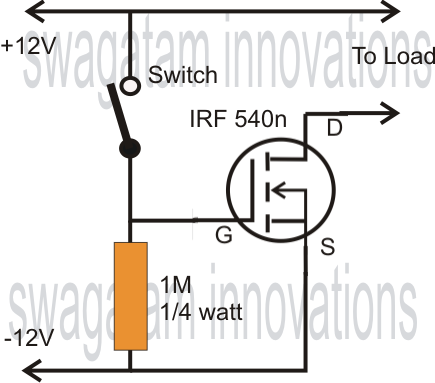 using mosfet as a switch circuit