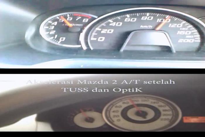 Akselerasi Mazda 2 A_T setelah TUSS OptiK kalah dengan Daihatsu Ayla