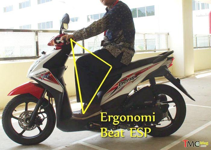 ergonomi ruang kaki Honda Beat