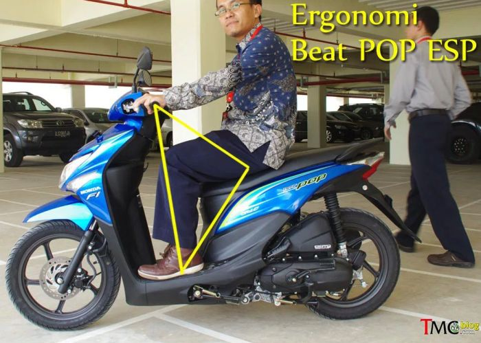 ergonomi ruang kaki Honda Beat2