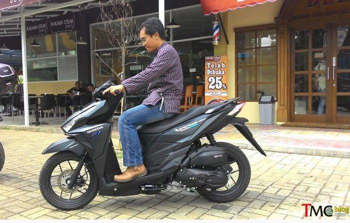 ergonomi ruang kaki Honda Vario