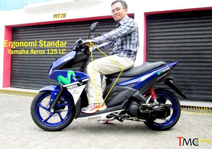 ergonomi ruang kaki Yamaha Aerox