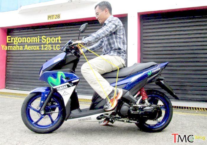 ergonomi ruang kaki Yamaha Aerox2