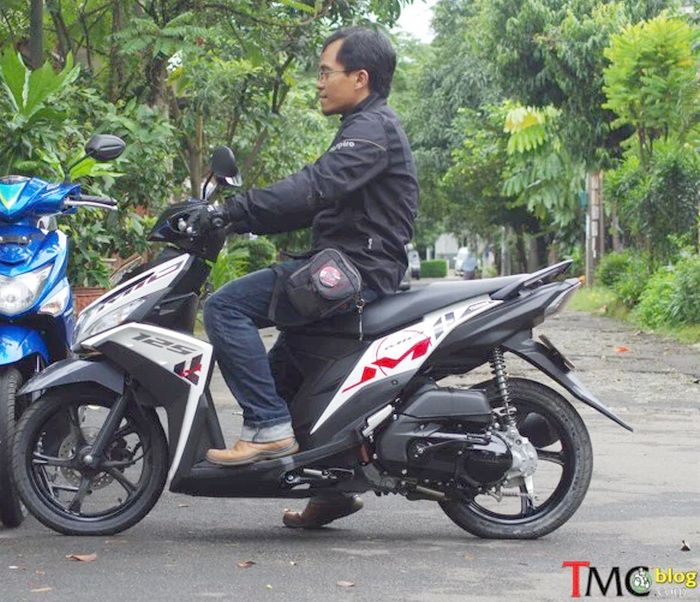 ergonomi ruang kaki Yamaha Mio M3