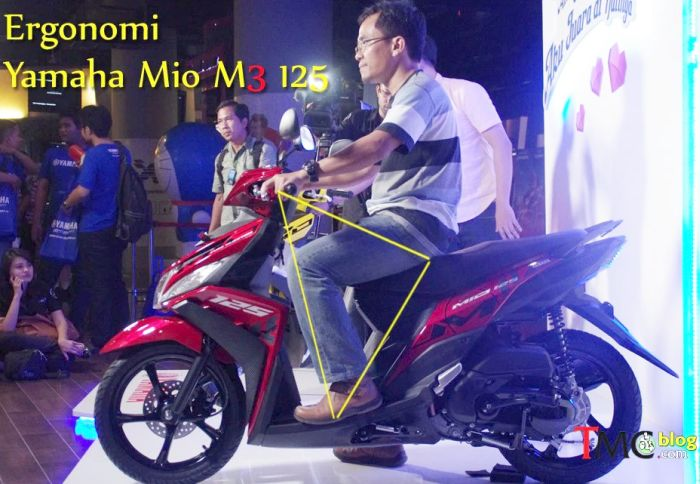 ergonomi ruang kaki Yamaha Mio M32