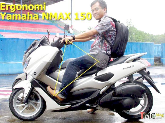 ergonomi ruang kaki Yamaha NMax2