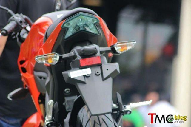Tanpa pegangan belakang Kawasaki Z125 pro terlihat jelek