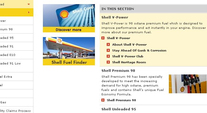 shell v power 98 vs uleaded 98