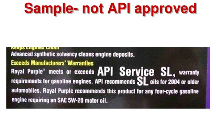 royal purple tidak lulus API