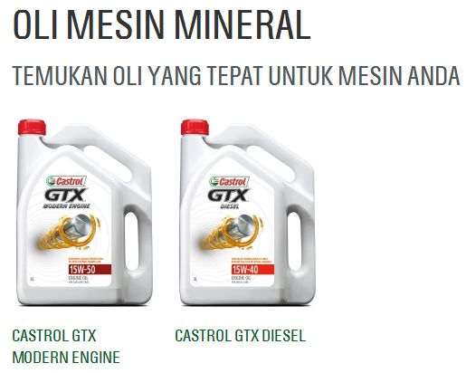 castrol GTX mineral
