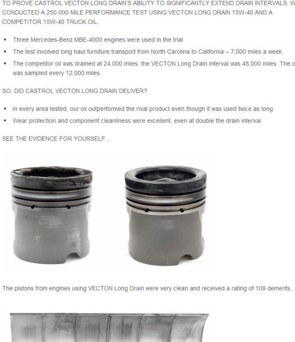 castrol long drain test