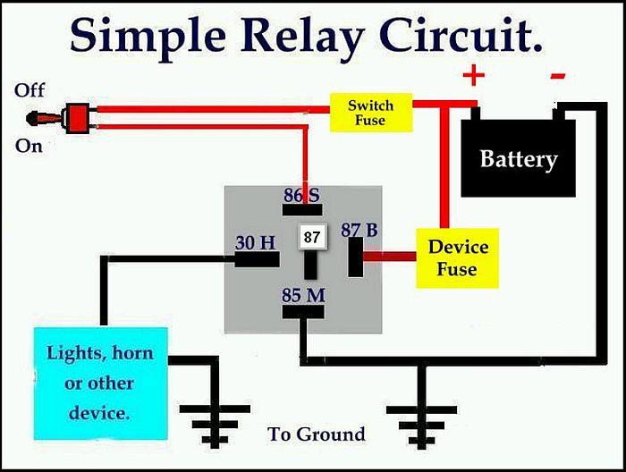mengganti relay dengan mosfet untuk solusi lampu depan atau klakson rh kupasmotor wordpress com wiring relay lampu mobil 4 Prong Relay Wiring