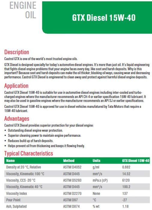 spesifikasi-dari-castrol-gtx-diesel