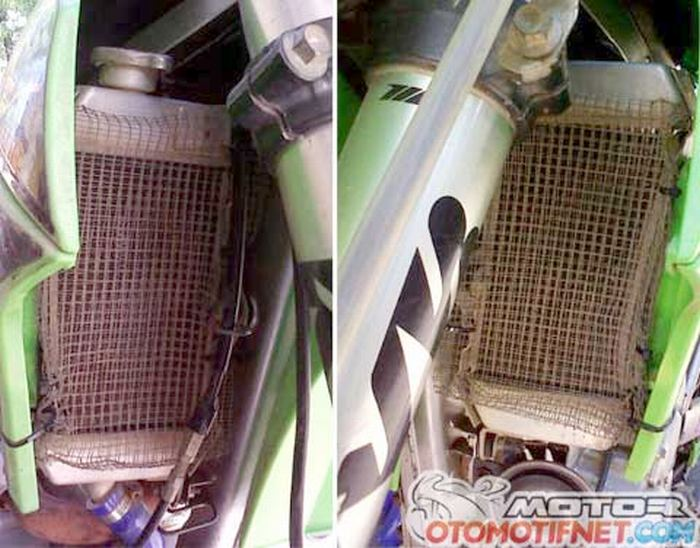 melindungi-radiator-dari-lumpur-pakai-mesh-di-klx