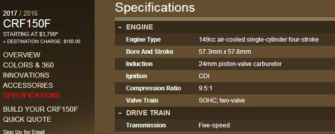 spesifikasi-mesin-honda-crf150f