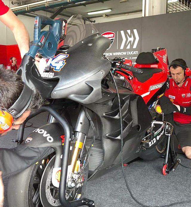 Fairing Ducati Desmosedici GP19 sepang trial 2